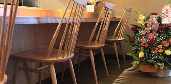 納品事例のご紹介~草津市『馳走 とし藤』様 椅子・テーブル一式~