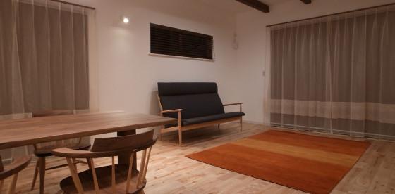 納品施工事例のご紹介~京都市Y邸 家具・ラグ・オーダーカーテン一式~